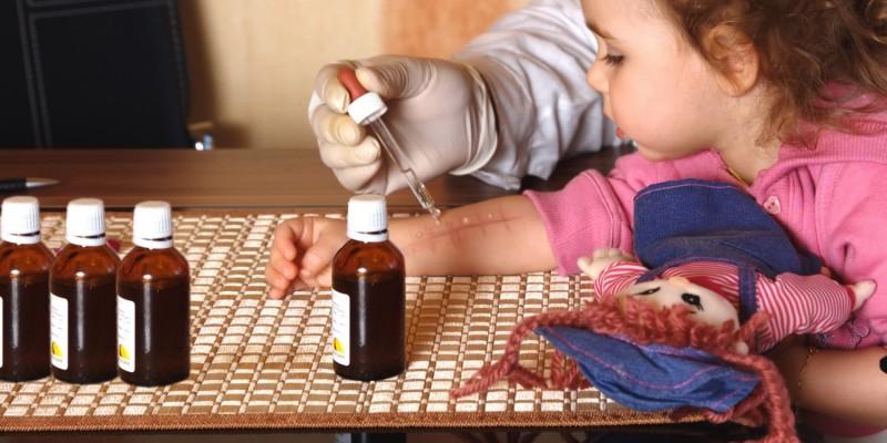 Ein Hauttest gibt Aufschluss über Allergien