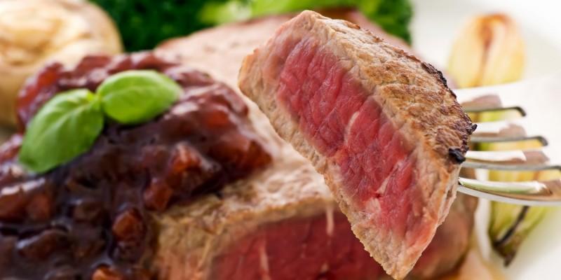 Fleisch gut durchbraten