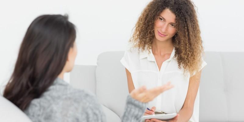 Sitzung bei Therapeutin