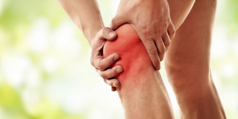 Knieschmerzen treten auf