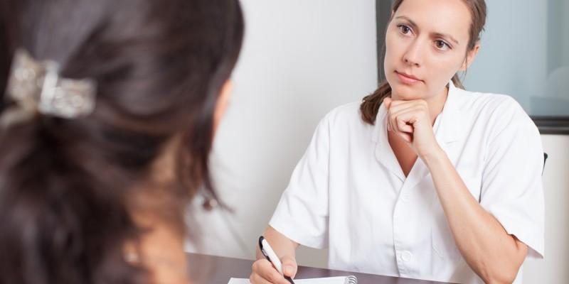 Besuch beim Frauenarzt
