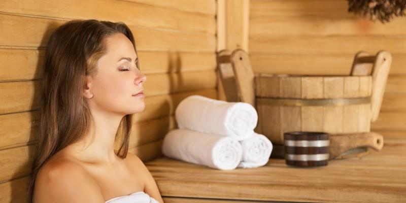 Saunagänge können die Heilung begünstigen