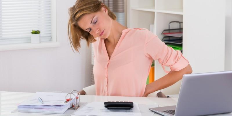 Die Leistungsfähigkeit leidet unter den Rückenbeschwerden
