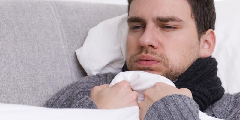 Schüttelfrost infolge einer Grippe